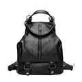 Preppy Style Simple Fashion Backpack Three purpose Bag Occident Style Shoulder Bag Zipper Press Button Hand