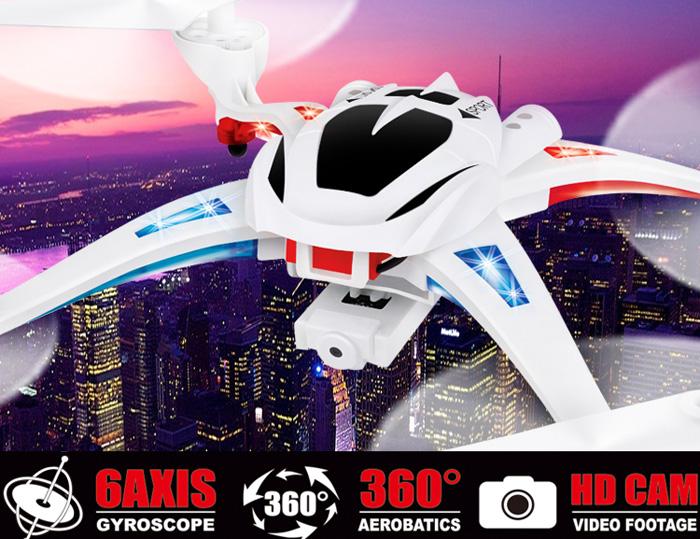 NIHUI TOYS U807C Magnetic Compass Headless Mode 2.4GHz RC Quadcopter 6 Axis Gyro 360 Degree Stumbling RTF UFO w/ 2.0MP HD Camera