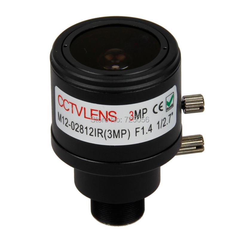 3.0Megpixel Fixed Iris HD CCTV Camera Lens 2.8-12mm Varifocal IR HD Security Camera Lens Manual Zoom & Focus M12 Mount F1.4(China (Mainland))
