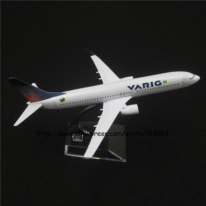16cm Alloy Metal Air Brazil VARIG Airlines Airplane Model Boeing 737 B737 800 Airways Plane Model w Stand Aircarft Toy Gift(China (Mainland))