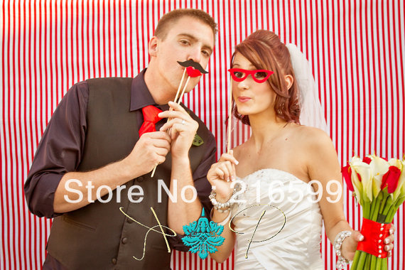 New Wedding Supply Hot Sale 41pcs Funny Mask Wedding Party Photography Photo Booth Prop MUSTACHE ON A STICK Free Shipping