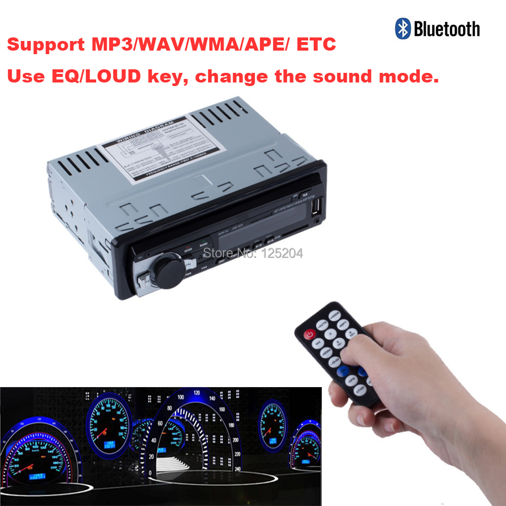 2015 new Car Radio Stereo Player Bluetooth AUX-IN MP3 FM/USB/1 Din/remote control For Iphone 12V Car Audio MP3 player Auto(China (Mainland))
