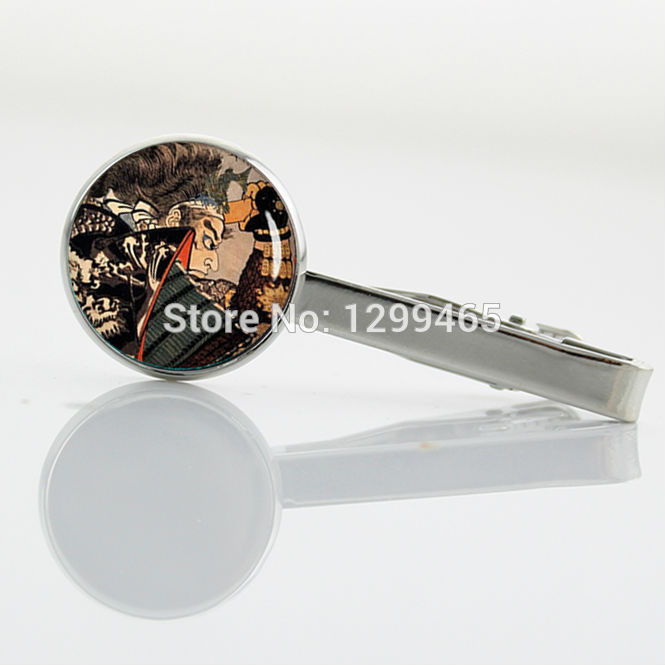 Samurai in dragon armor tie tacks Decoration Japanese picture ancient samurai Tie Clip Retro Men's Suits Shirts Tie Clip T 787(China (Mainland))