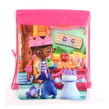 1pic Doc Mcstuffins Children School Bags cute cartoon Drawstring Backpack& Bag For Kids print outdoor swimming Backpacks