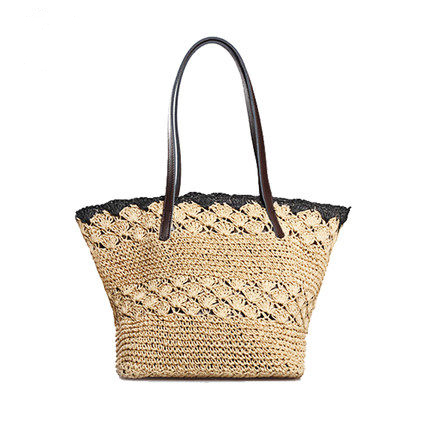 lace edge women messenger bag lady tote bench bag vintage girl straw design(China (Mainland))