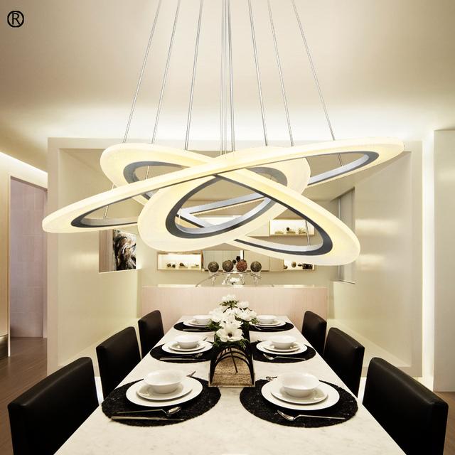 Più nuovo Modo LED Lampadari Moderni Luce Anello Designer Lampada A ...