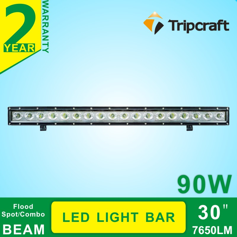 2016 New 90w led light bar 10-30v led offroad light Bar 30 '' led 4x4 tractor driving light bar for snow removal truck(China (Mainland))