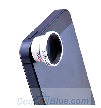 Universal 2 in 1 0.67X Wide Lens + Macro Lens Wide-angle Lenses for iPhone 4 4S 5 5S 5C All Mobile Phones Digital Camera Lenses