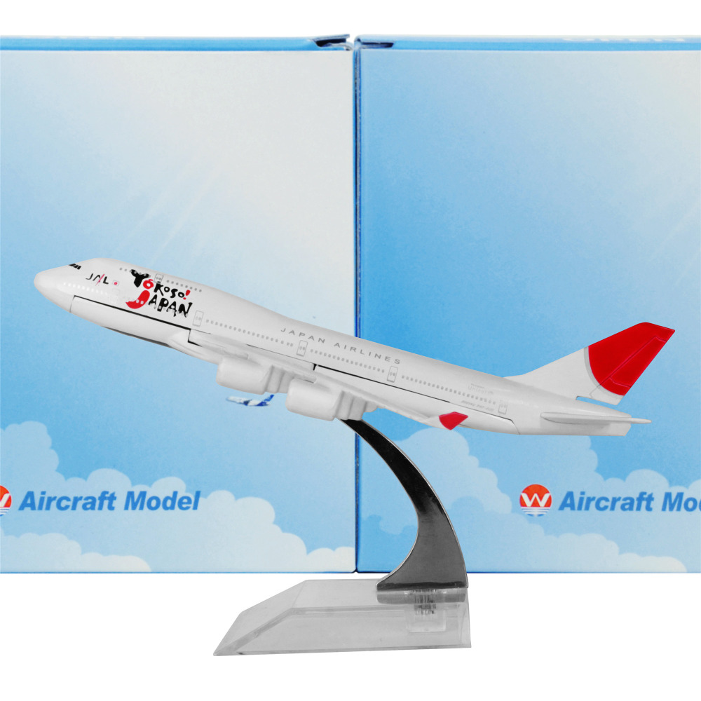 Japan Airlines Boeing 747 16cm model airplane kits child Birthday gift plane models toys Christmas gift(China (Mainland))