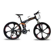 Buy Cyrusher FR100 US Stock Black Mans Mountain Bike 24 speed Double Disc Brake 26 Aluminum Frame Folding Bike Mountain Bicycle for $680.00 in AliExpress store