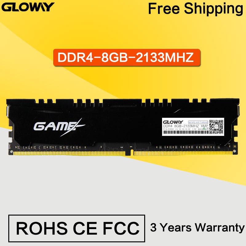 Original Gloway Desktop Memory 8GB DDR4 2133MHz RAM 1.2V DDR4 2133  DIMM Memory Internal Memoria Ram For Desktop PC Computer<br><br>Aliexpress