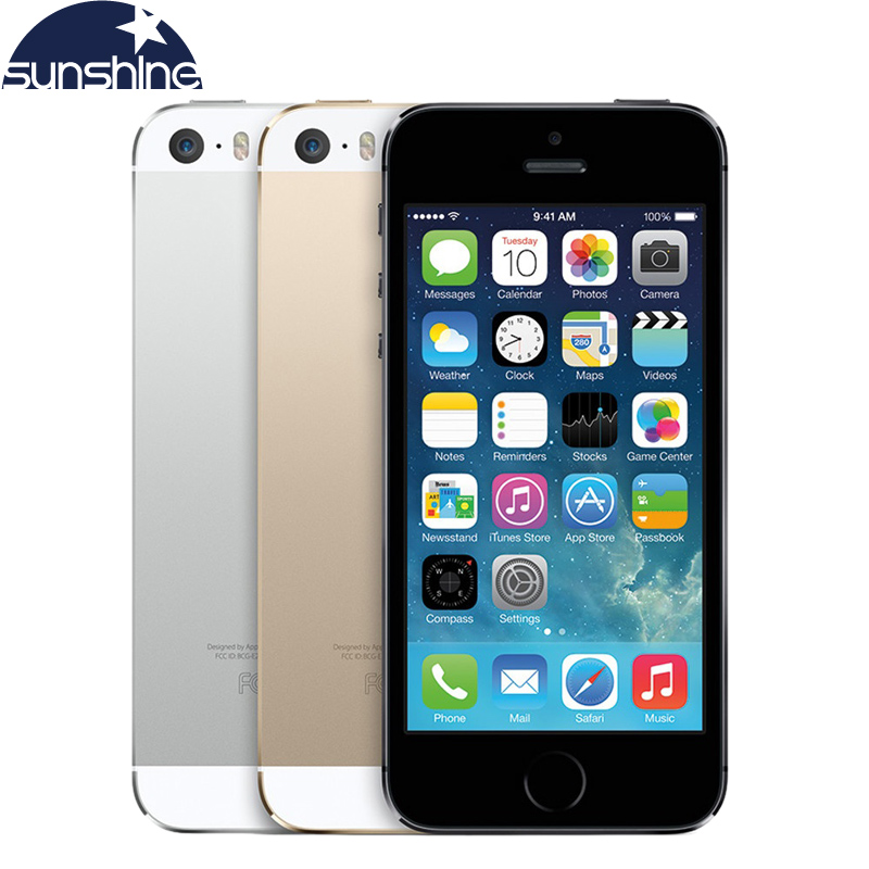 "Unlocked Original Apple iPhone 5S Mobile Phone Dual Core 4"" IPS Used Phone 8MP GPS IOS Smartphones iPhone5s Cell Phones(China (Mainland))"