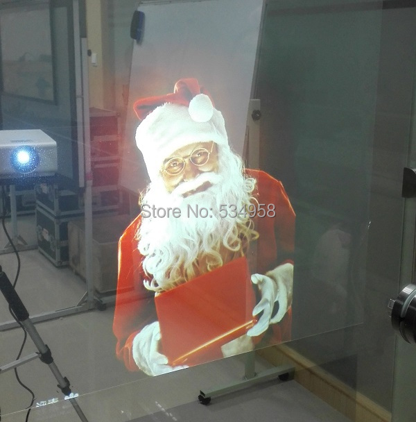 Transparent Holographic Rear Projection Film,Clear Film,3D Hologram Film for POS Advertising(China (Mainland))