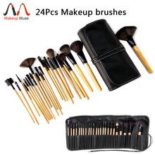 2014 HOT !! Professional 24 pcs Makeup Brush Set tools Make-up Toiletry Kit Wool Brand Make Up Brush Set