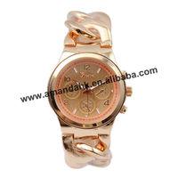 53pcs/lot,fashion stainless steel cowboy chain watch band fashion woman watches lady bracelet wristwatch.