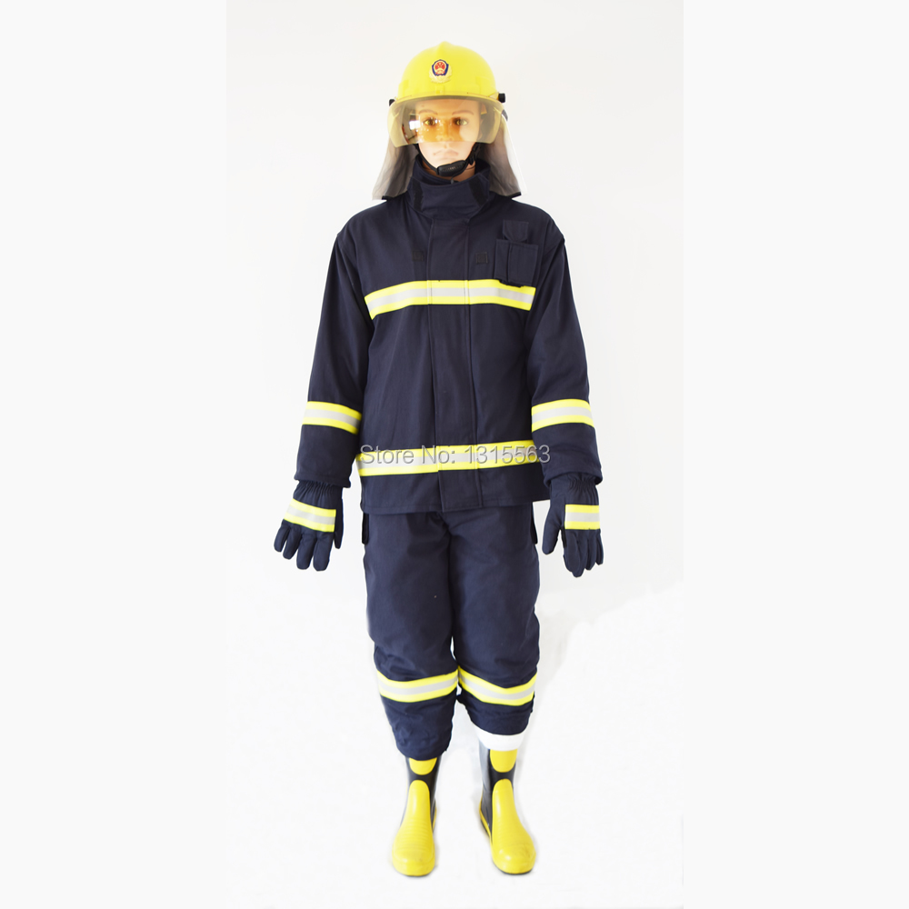Free shipping Sell one set(Helmet,Gloves,Belt,Boot,Suit) Fireman Fire Fighting Uniform