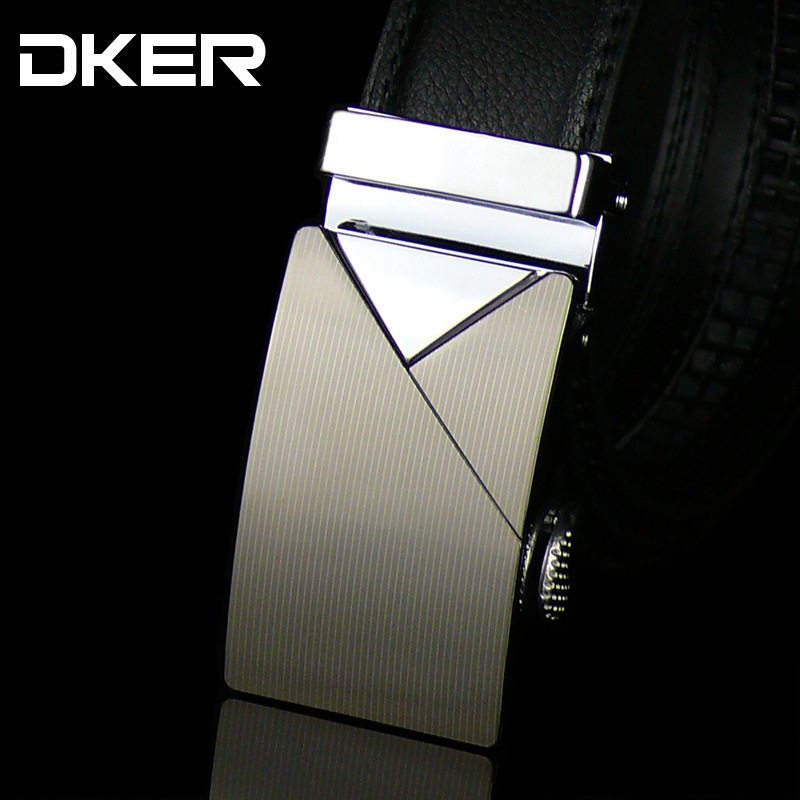 China Manufacturers Of Leather Goods Wholesale New Men's Leather Automatic Buckle Alloy Belt(China (Mainland))