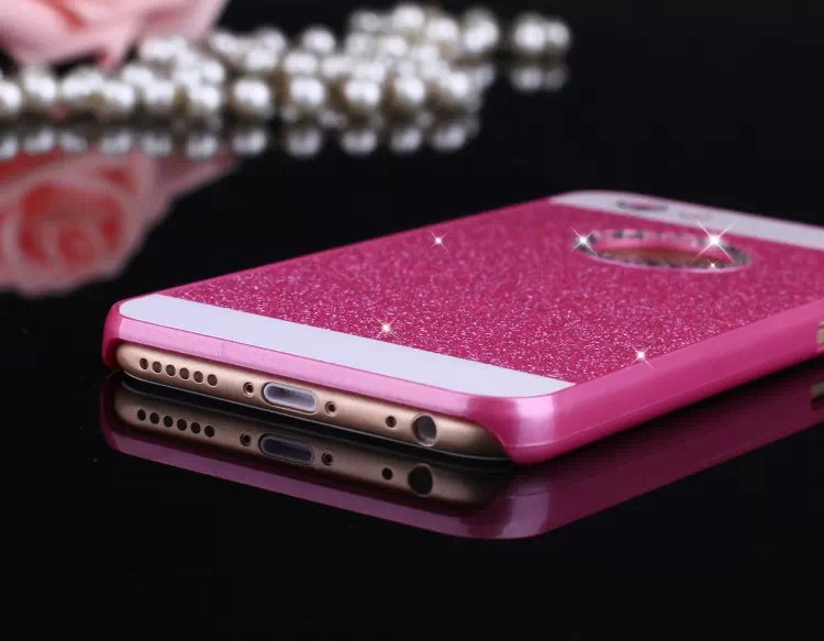 luxury Rhinestone case for apple iphone 5s glitter pink PC cover mobile phone accessories by noble quality original i5 5 se i