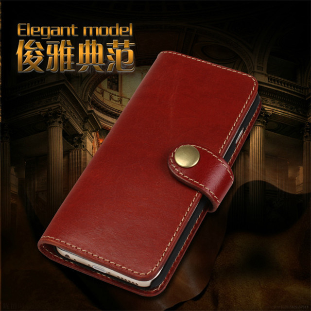 Genuine Leather Case for iPhone 6 Plus Luxury First Layer Cowhide Real Leather Cover for iPhone 6S Plus 5.5 inch