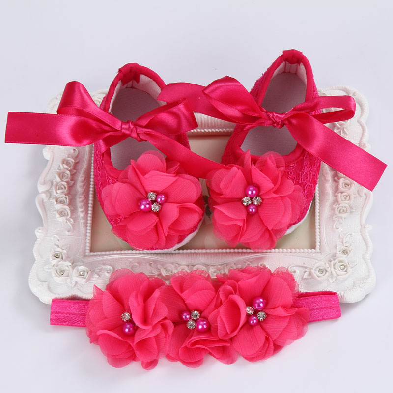 2016 Hot/cheap Red Dots Baby Shoes Girl Bow Headbands Sets,Toddler Princess Ballerina Booties,Newborn Fashion Shoes(China (Mainland))