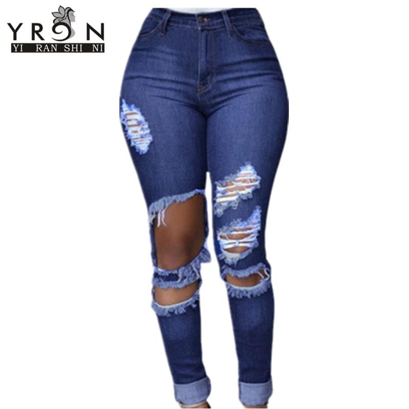 Blue Wash Destroyed Denim Jeans LC78640Одежда и ак�е��уары<br><br><br>Aliexpress