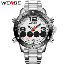 WEIDE Brand Fashion Casual Sport Watches Men Quartz Wristwatches Stainless Waterproof Watch Men Clock Reloj Masculino / WH3405