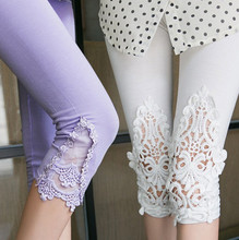 The new 2016, the summer fashion lace hollow-out cultivate one's morality thin 7 minutes of pants(China (Mainland))