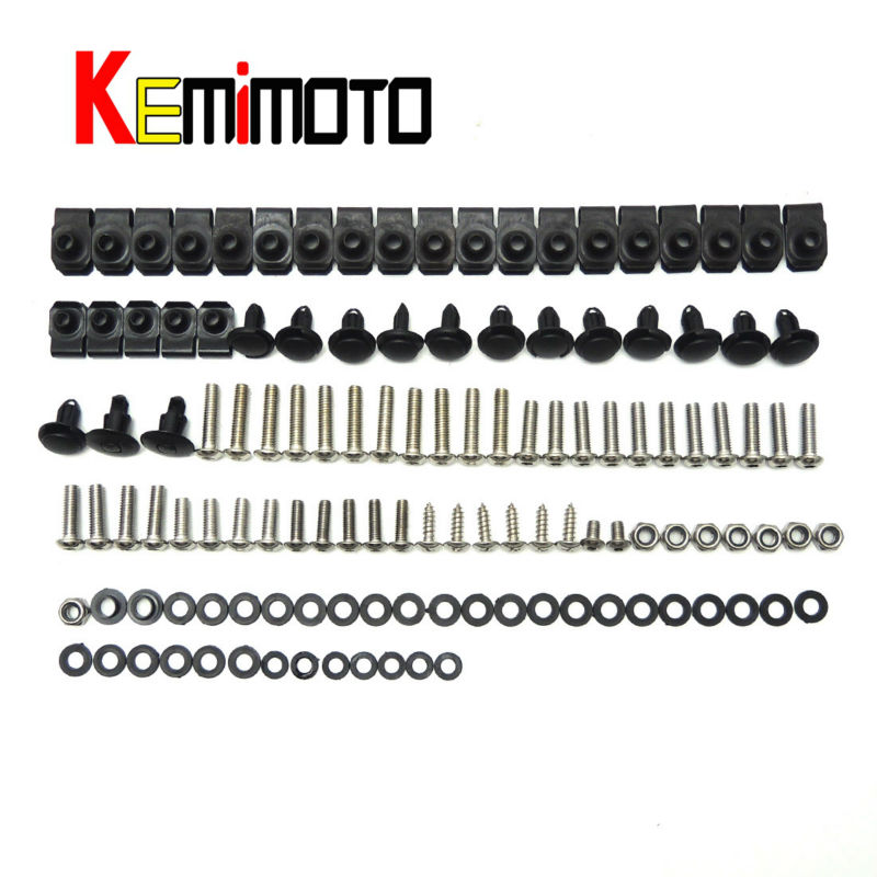 2007 2008 R1 Moto Full Fairing Bolts Kit Body Fasteners Clips Screws Nuts For Yamaha YZF R1 2007 2008 One Set NEW(China (Mainland))