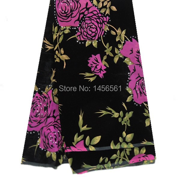(5Y/lot) 24PX20! wholesale price embroidered velvet lace fabric black+mei red!Best selling African velvet lace for women dress!(China (Mainland))