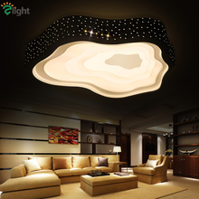 2016 Post-Modern Black White Cloud Desgin Iron Led Dimmable Chandelier Art Deco Diamond Acrylic Remote Controller Chandelier (China (Mainland))