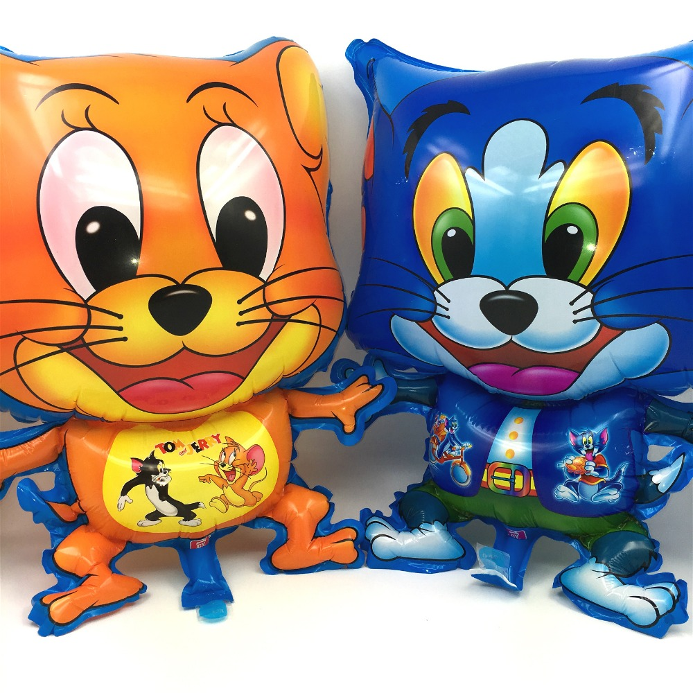 40*55cm Big Size Cat Tom and Mouse Jerry inflatable air Balloons kids Toys children gifts Birthday Wedding Decoration(China (Mainland))