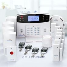 HOMSECUR Wireless GSM SMS TEXT Alert Security Burglar Alarm System + Smoke Panic (Support EN, IT ,FR, DE and ES Voice)(China (Mainland))