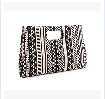 30pcs lot fedex fast Europe America style woman casual style geometric canvas Clutch versatile long evening