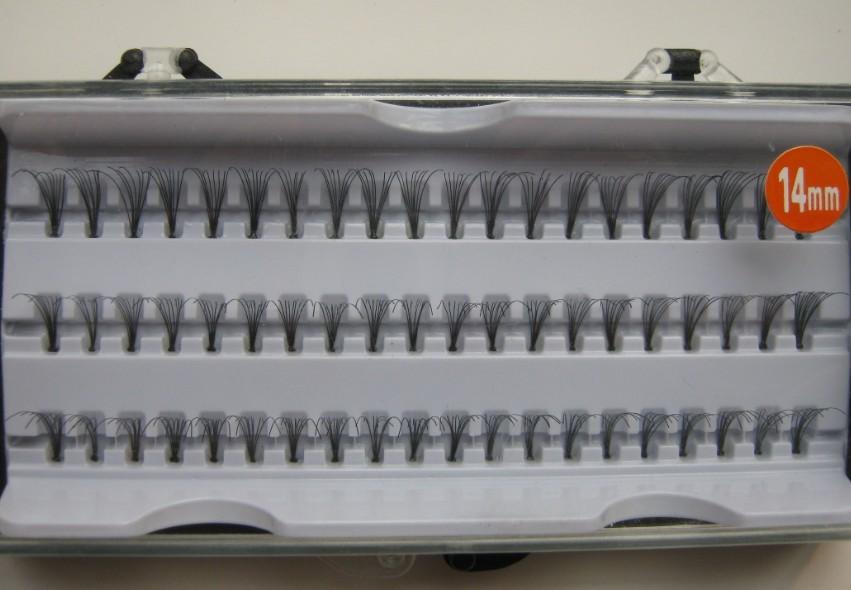 Planting grafted false eyelashes tufted bundle 60 14mm single distinct neat quality(China (Mainland))