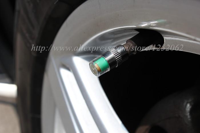 4pcs Lot 2 2 bar 32PSI tire pressure car tire Monitor pressure gauge Cap Sensor Indicator