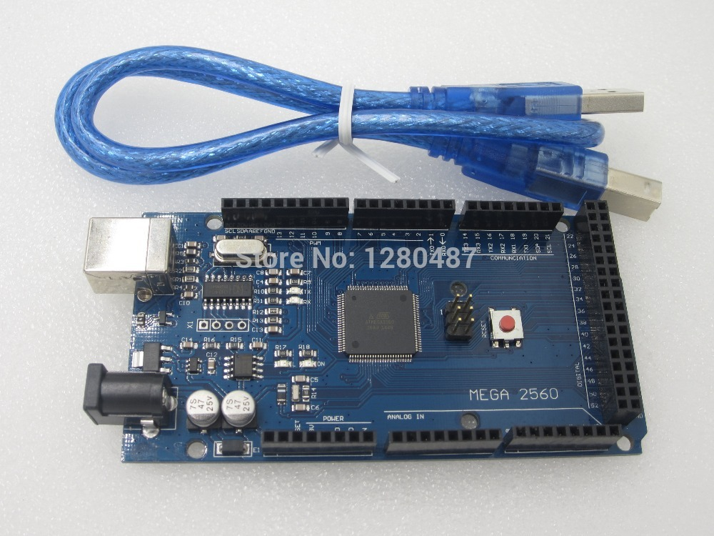 Free shiping !!! Mega 2560 R3 Mega2560 REV3 ATmega2560-16AU Board + USB Cable compatible for arduino good quality low price(China (Mainland))