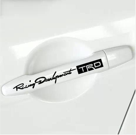 Trd scorners door handle personality reflective car stickers uluibau hatchards fox the family refires