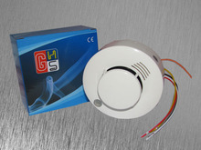 High Sensitivity Stable Photoelectric Wired Smoke Detector for Fire Alarm Sensor can connect with alarm system Retail(China (Mainland))