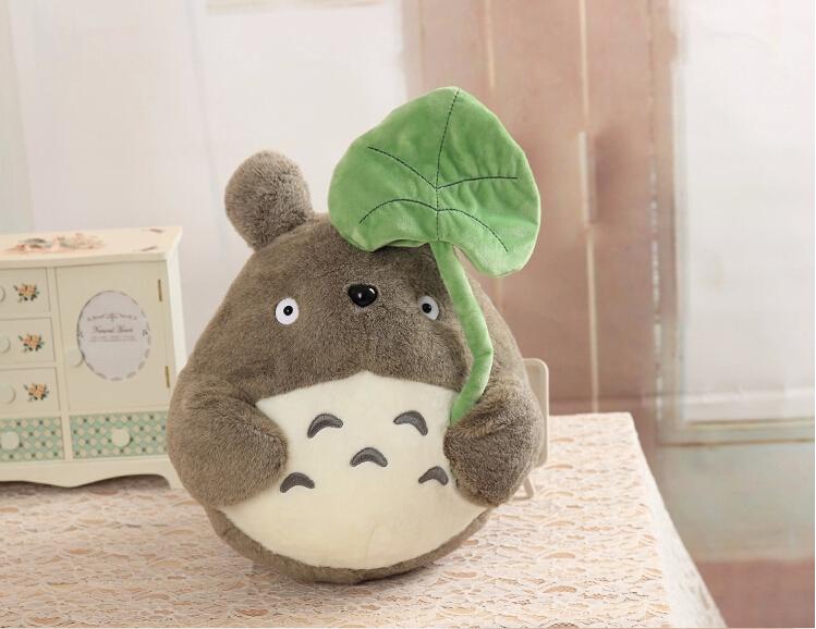 New Design Lotus Plants Totoro Plush Toys Stuffed Doll Cute Sitting Height 20/30/40/50cm One Piece(China (Mainland))