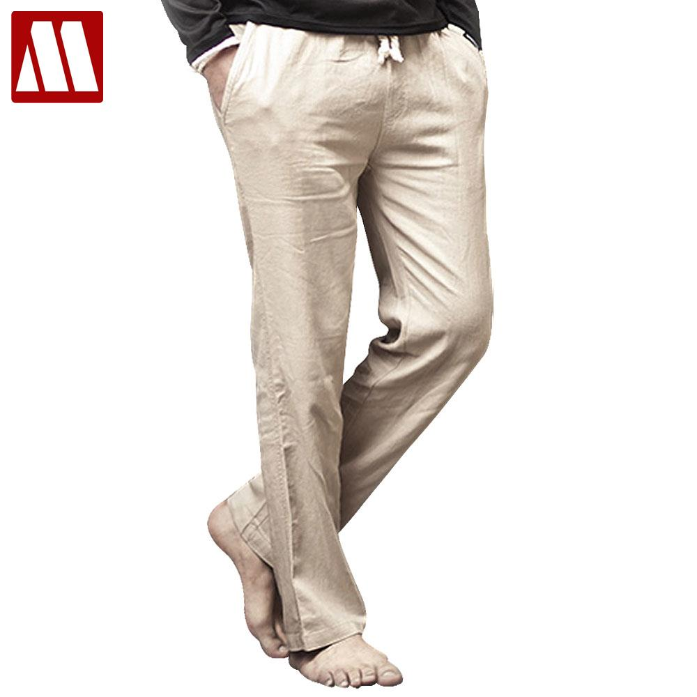 Mens Linen Lounge Pants - White Pants 2016