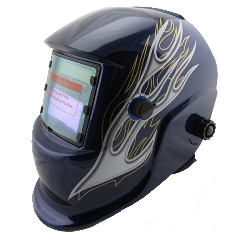Nice fire paint Li battery+Solar auto darkening welding mask/weld helmet sent free