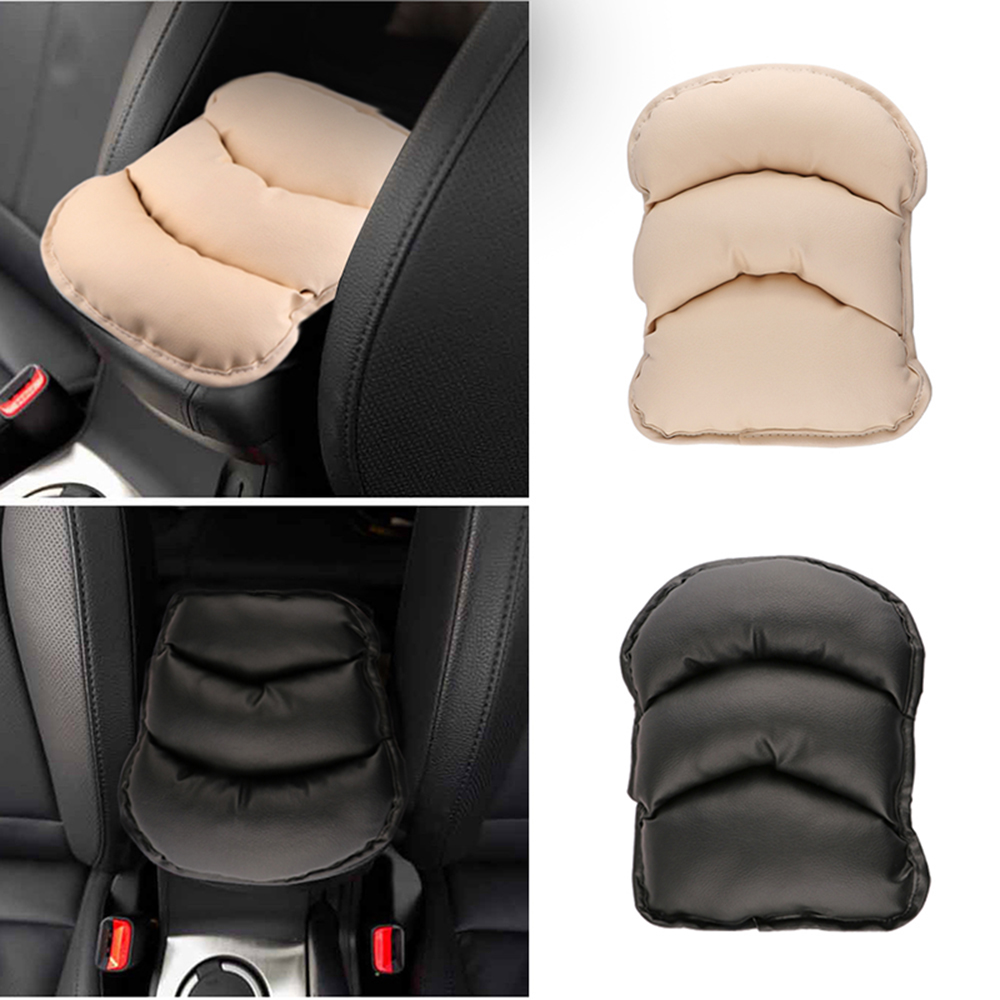 28*21CM Universal Car Auto Armrests Cover Vehicle Center Console Arm Rest Seat Box Pad Protective Case Soft PU Mats Cushion(China (Mainland))
