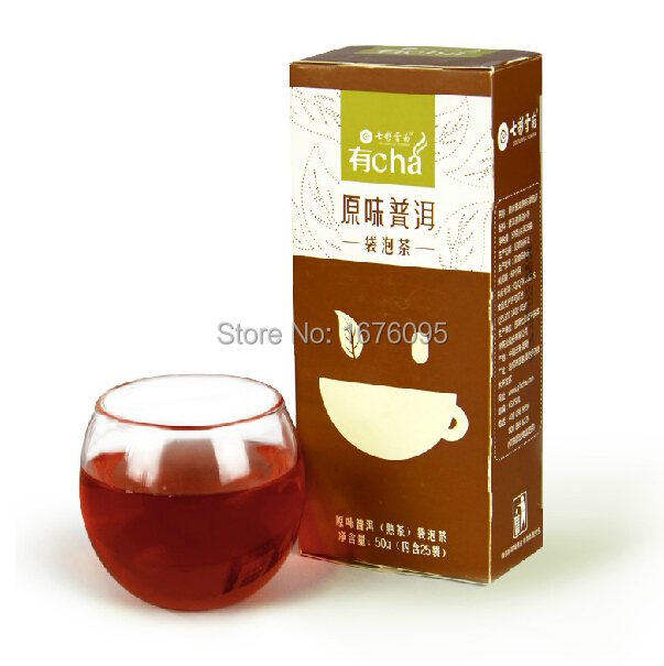 Chinese tea Pu er tea Powder Green health tea natural Once a package easy to drink