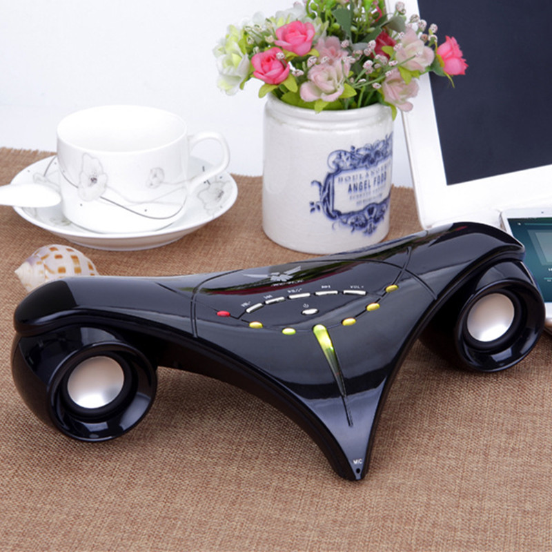 Fashion Boeing plane Model player HIFI Wireless Bluetooth speaker LED colorful sound box FM radio MP3 TF USB Handfree