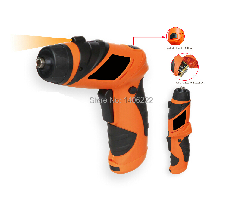 6V electric screwdriver small Drill Driver sleeve Power Tools cordless drill with LED