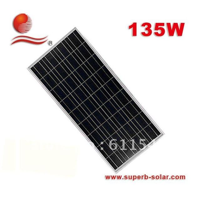 135W solar  panel +solar module+pV solar energy