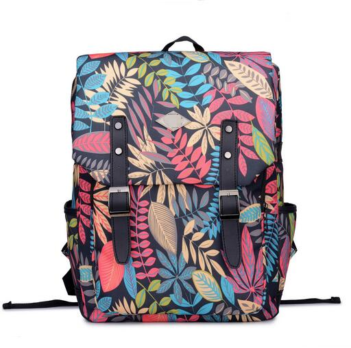 2016 Preppy Style Women Canvas Backpacks Printing School Bags For Teenagers Girls Laptop Computer Backpack Bookbags Rucksack(China (Mainland))