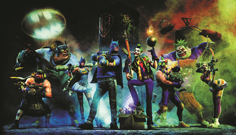 "Free shipping 24""X42""inch -Gotham City Impostors batman joker prints oil paintings Custom ART PRINT 316(China (Mainland))"