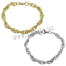 Buy Women Men Stainless Steel Bracelets Bangles Silver Gold Rope Link Chain Jewelry Accessories Friendship Wristbands for $1.58 in AliExpress store
