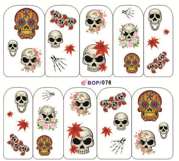 Halloween nail decals minx Mask Skull nail art decoration nail sticker ,adesivo de unha decor folha de adesivos para unhas(China (Mainland))